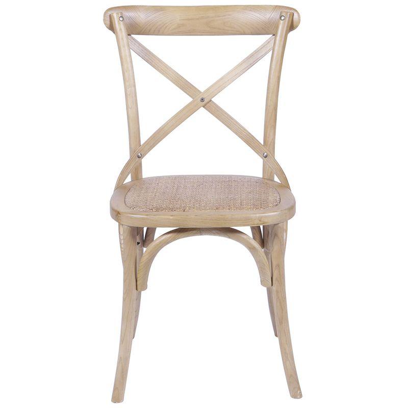 Cadeira Katrina Top Madeira Natural Assento Rattan - 30752