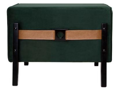 Puff Palma Tecido Verde Base Escura 61cm - 55032