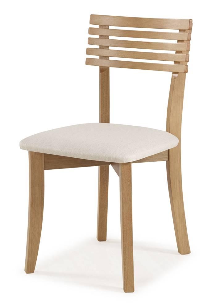 Cadeira Petani Encosto Ripado Assento Estofado Branco 90cm - 59613