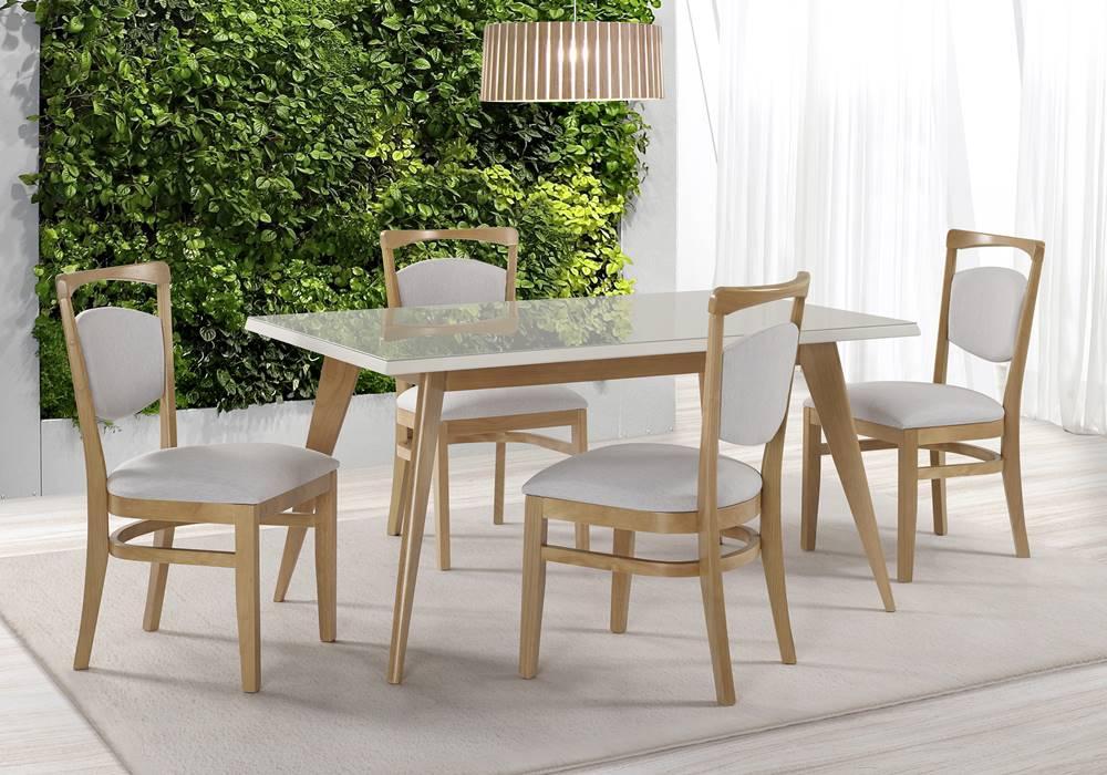 Cadeira Ruganni Sem Braco Encosto Estofado Branco 90cm - 59700