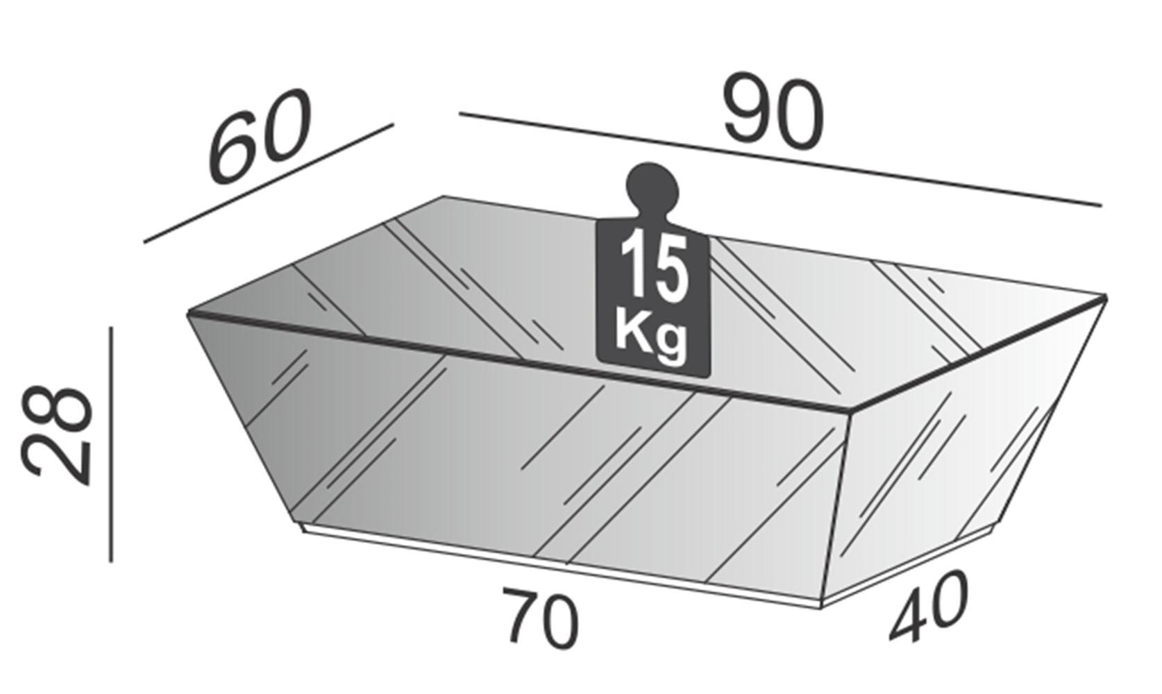 Mesa de Centro Aloy Espelhada 90 cm (LARG) - 59726