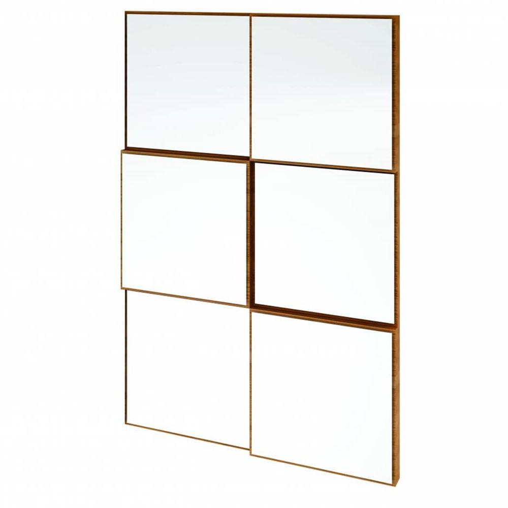 Quadro Espelho Argos Mini 50cm (LARG) cor Freijo - 59742
