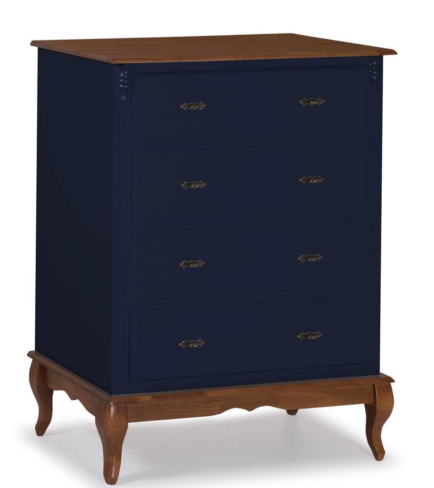 Comoda Malci Azul Petroleo 4 Gavetas 116cm - 59895