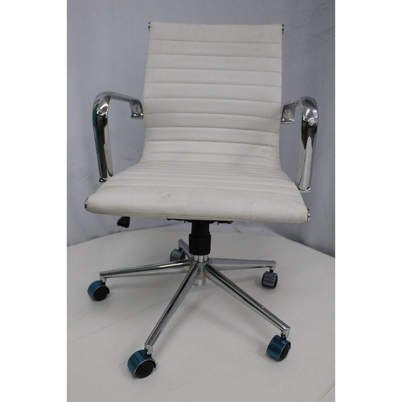 Cadeira-Office-OUTLET-Estofada-Baixa-Branca-Cromada
