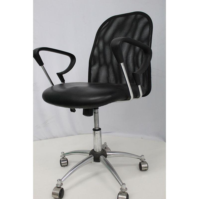 Cadeira-Office-OUTLET-Flex-Estofada-Baixa-Preta-Cromada