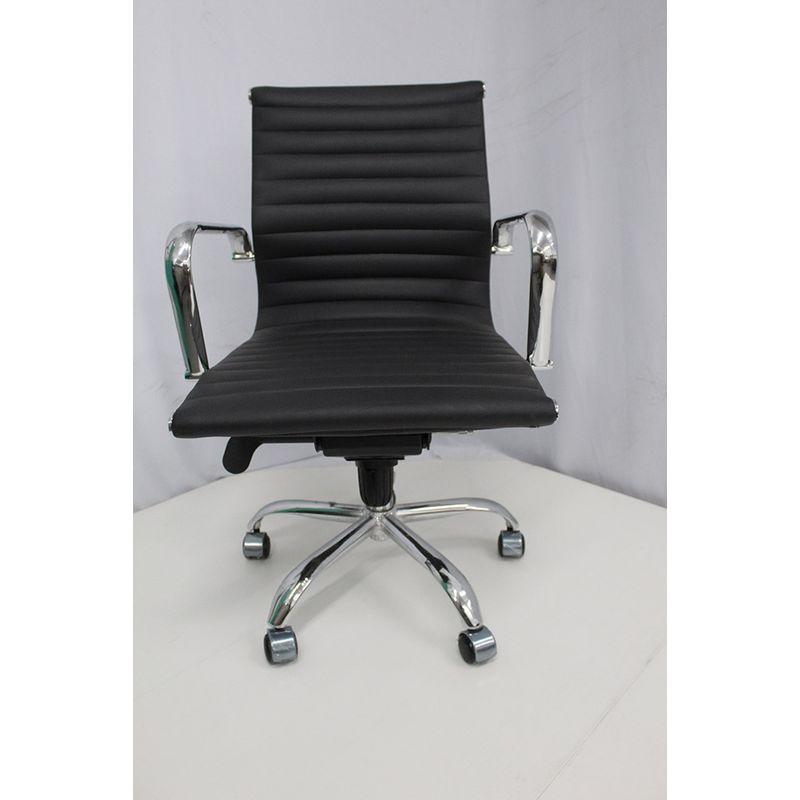 Cadeira-Office-OUTLET-Estofada-Baixa-Preta-Cromada-