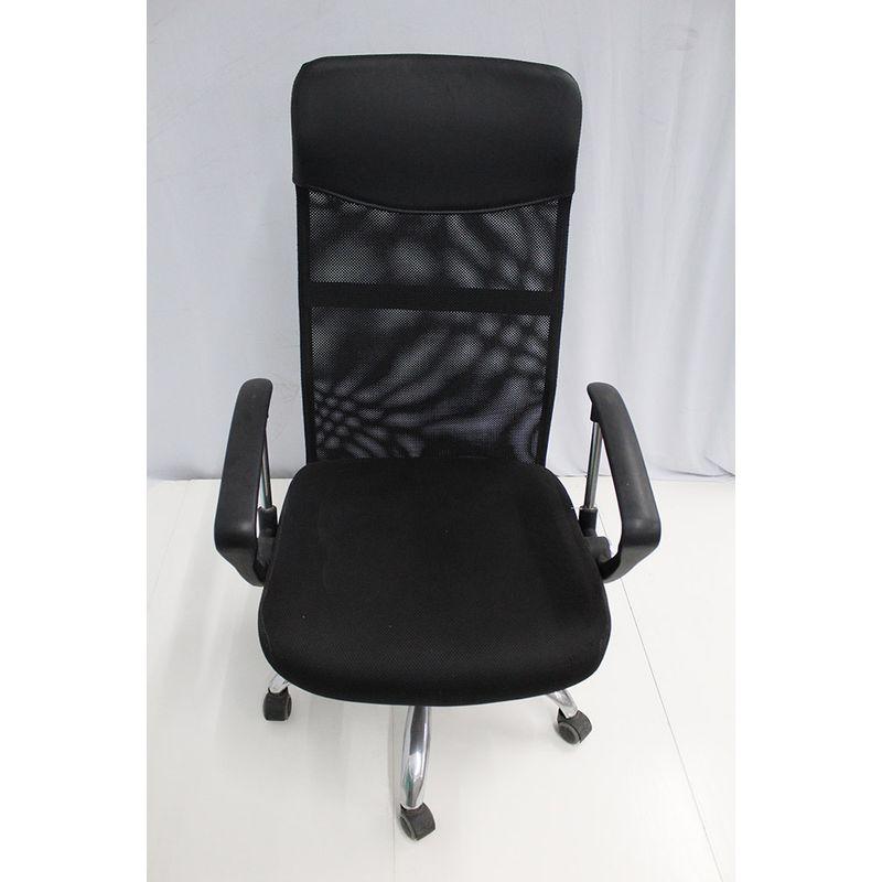 Cadeira-Office-OUTLET-Flex-Estofada-Alta-Preta-Cromada-