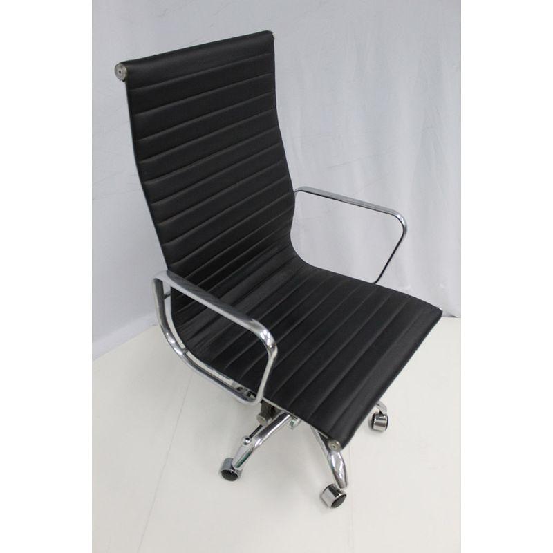 Cadeira-Office-OUTLET-Estofada-Alta-Preta-Aluminio-