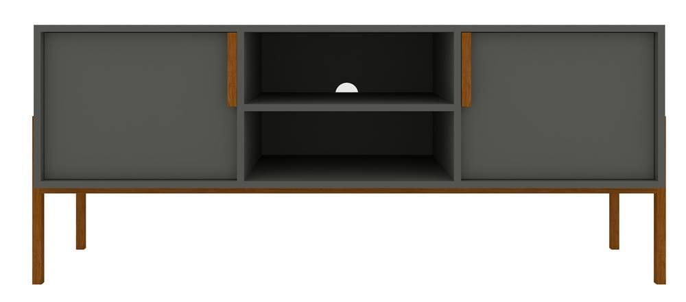 Rack Kevin Cinza 2 Portas 135cm - 59953