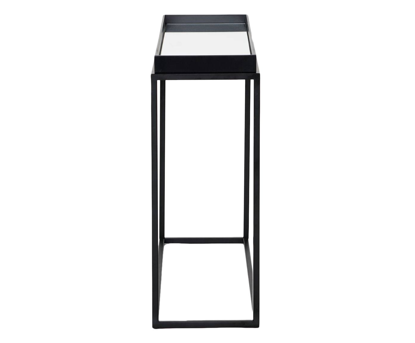 Mesa Lateral Loi Preta Espelho 80cm - 42030
