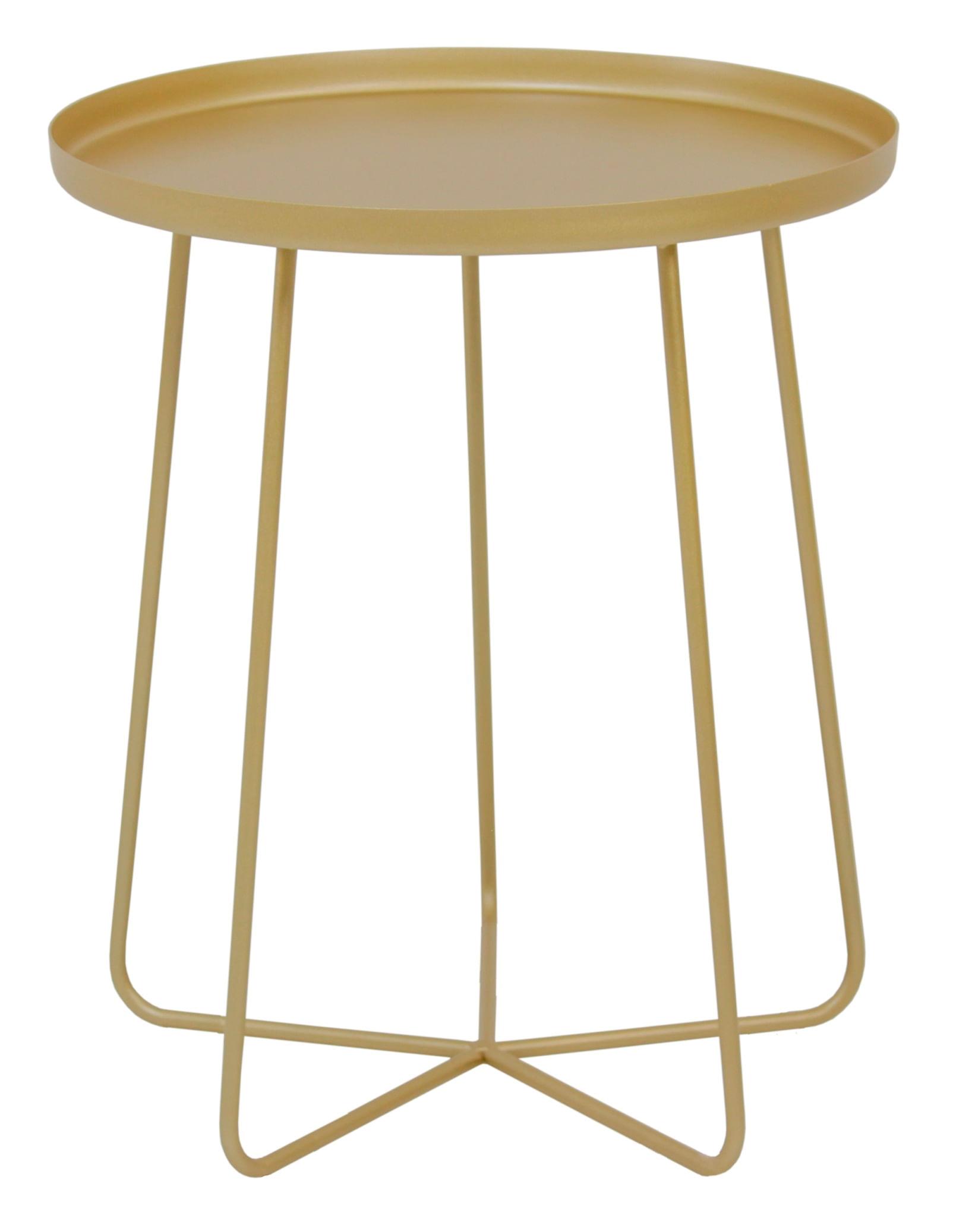 Mesa Apoio Trevo em Aco Carbono Cor Gold 40cm - 59965
