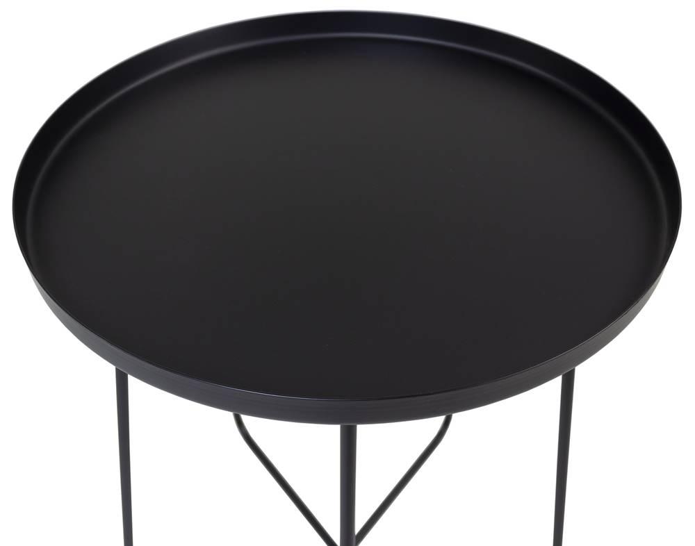 Mesa Apoio Trevo em Aco Carbono Cor Preta 40 cm - 59966