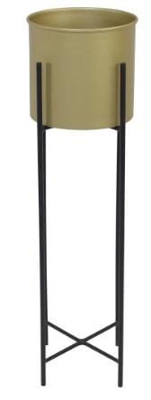 Cachepot Rouxinol Medio Gold Estrutura Preta 58cm - 59973