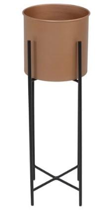 Cachepot Rouxinol Pequeno Cobre Estrutura Preta 48cm - 59974