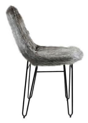 Cadeira Invisi Pele Sintetica Preta Base Aco Preto 45 cm - 59975