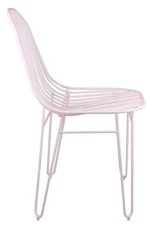 Cadeira Invisi Trama Rosa Base Aco Rosa 45 cm - 59977