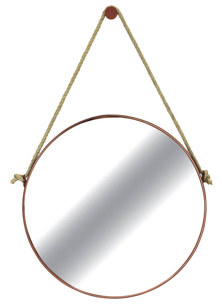 Espelho Redondo Hanoi Prata Moldura Gold 60cm - 59989