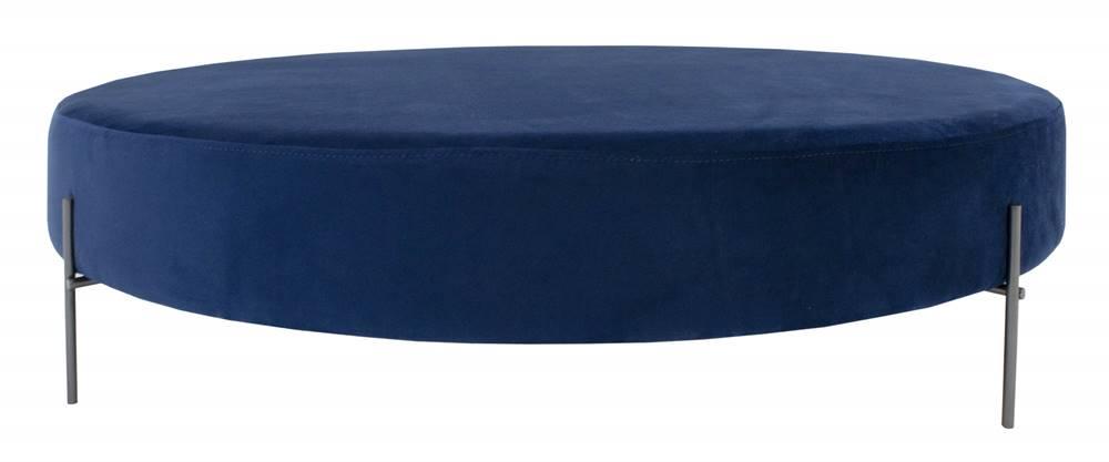 Puff Beagle Redondo Azul Base Preta 30cm - 60007