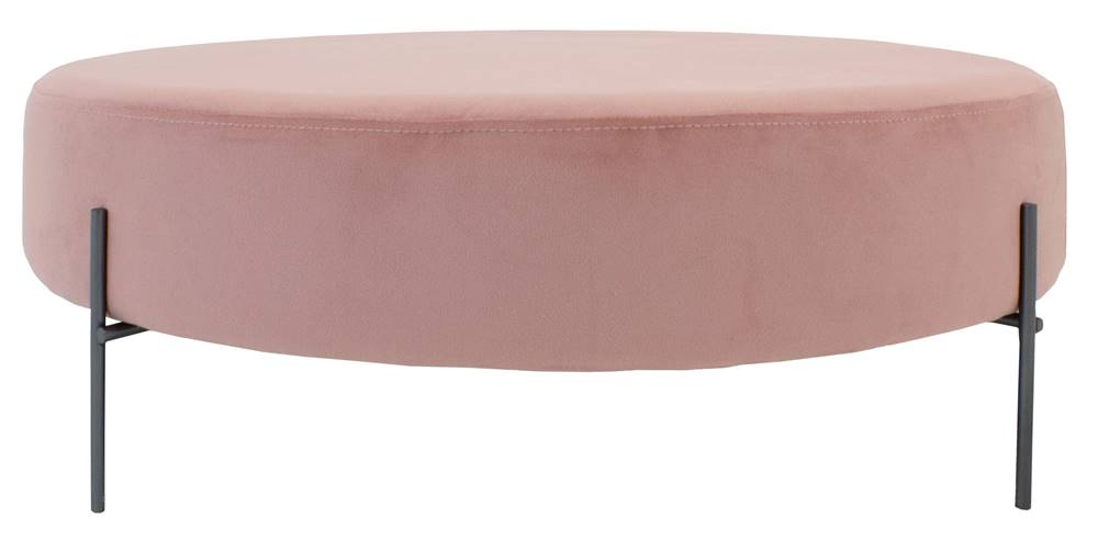 Puff Beagle Redondo Rosa Base Preta 30cm - 60008