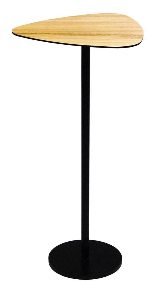 Mesa Apoio Aventura Baixa Tampo Louro Freijo Base Preta 48 cm - 60010