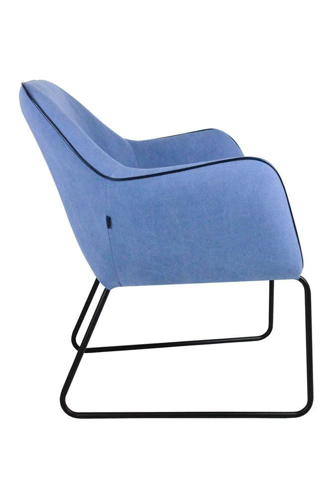 Poltrona Elite Azul Base Preta 84cm - 60063