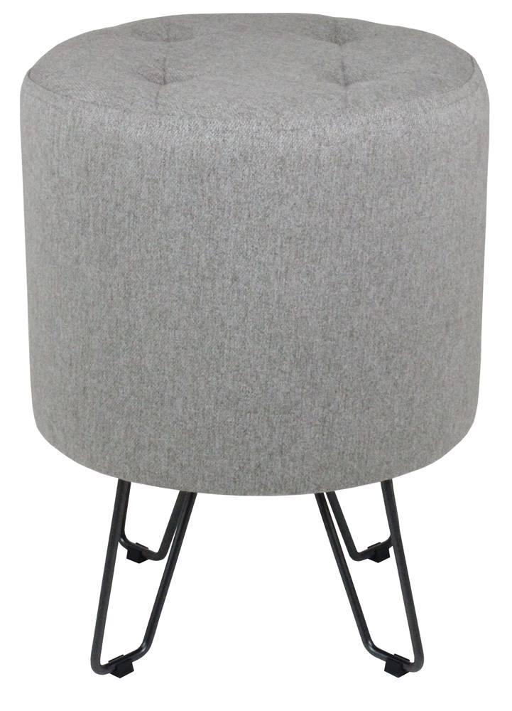 Puff Bastone Cinza Base Preta 55 cm - 60084