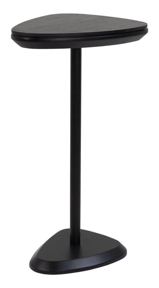 Mesa Apoio Elsinki Baixa Ebanizado Base e Haste Preta 55cm - 60229