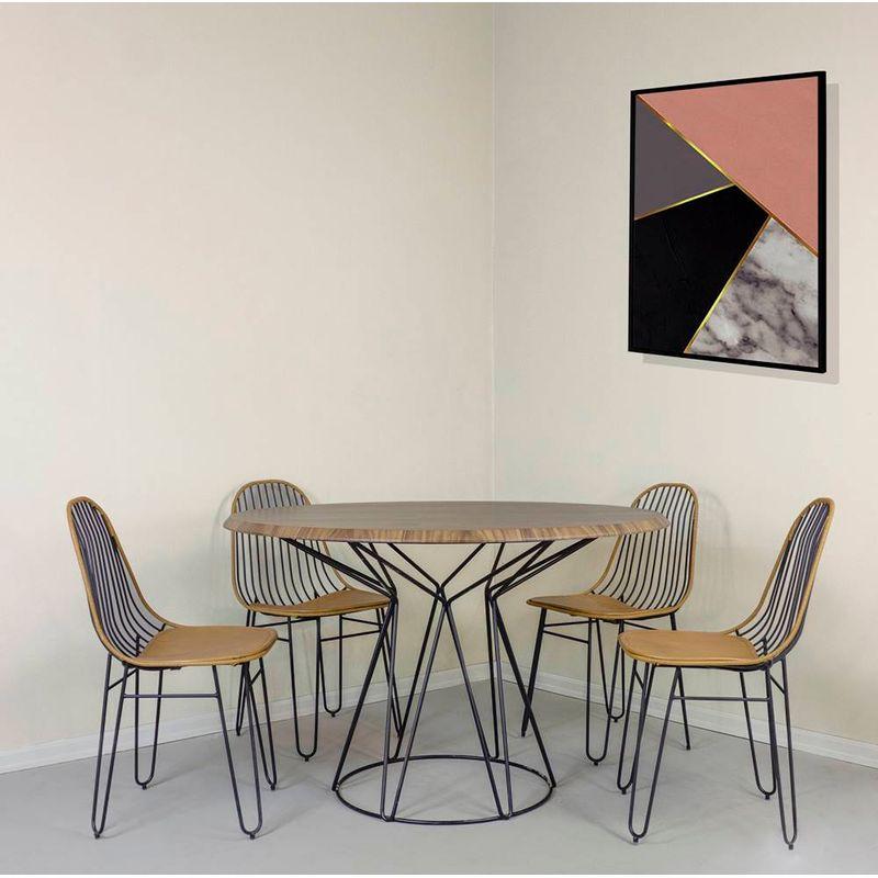 Ambientada---Mesa-de-Jantar-Nogueira-e-Base-Preta