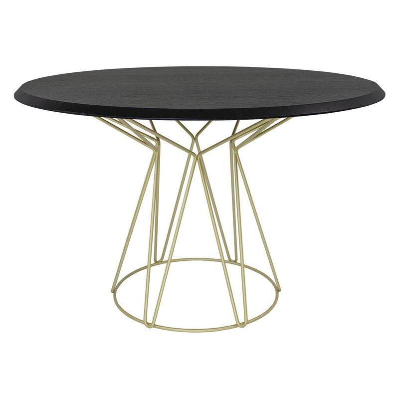 Mesa-de-Jantar-Smart-Tampo-Ebanizado-e-Base-Gold