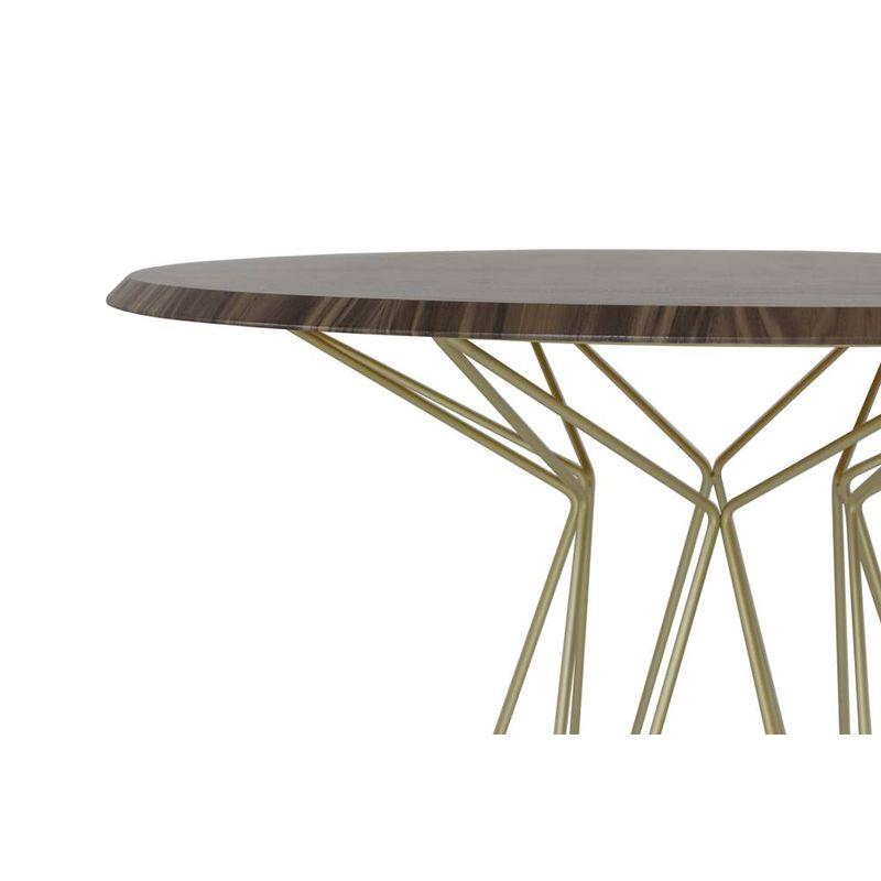 Mesa-de-Jantar-Smart-Tampo-Nogueira-e-Base-Gold_detalhe