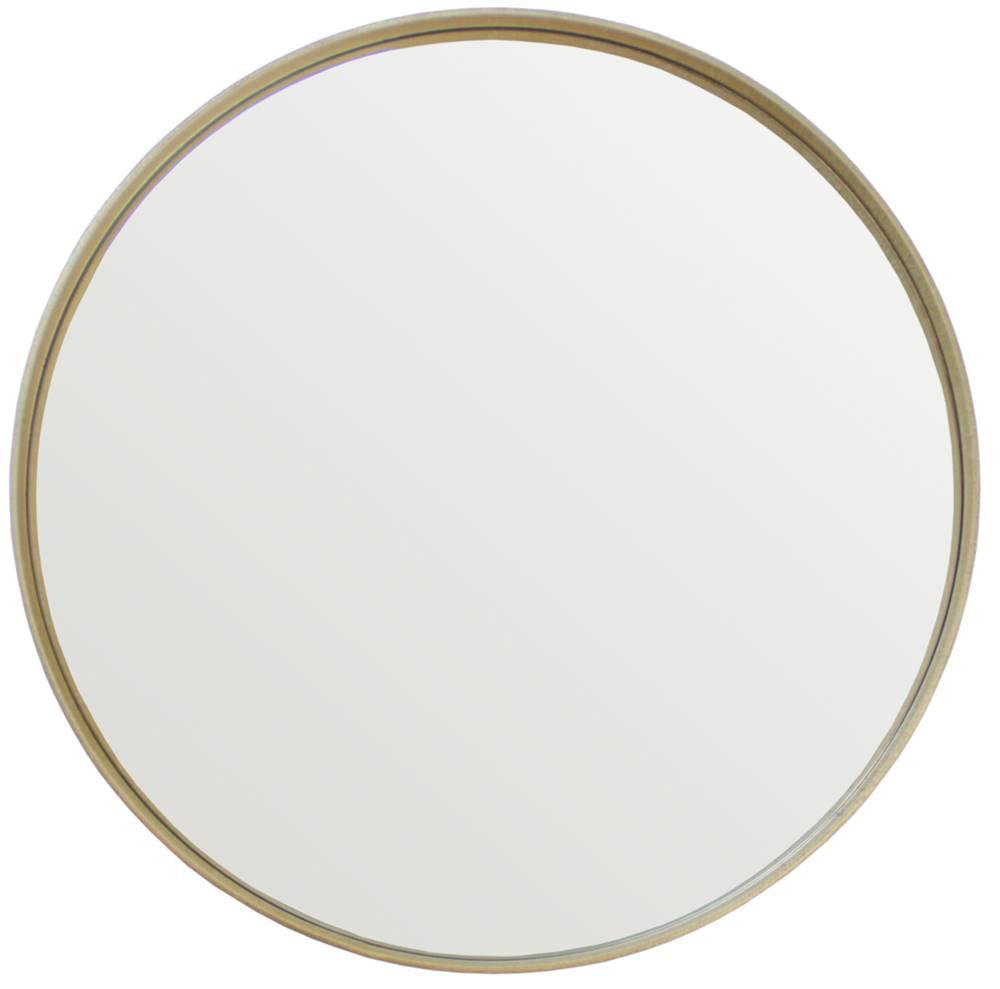 Espelho Manaus Redondo Prata Borda Gold 75cm - 60282