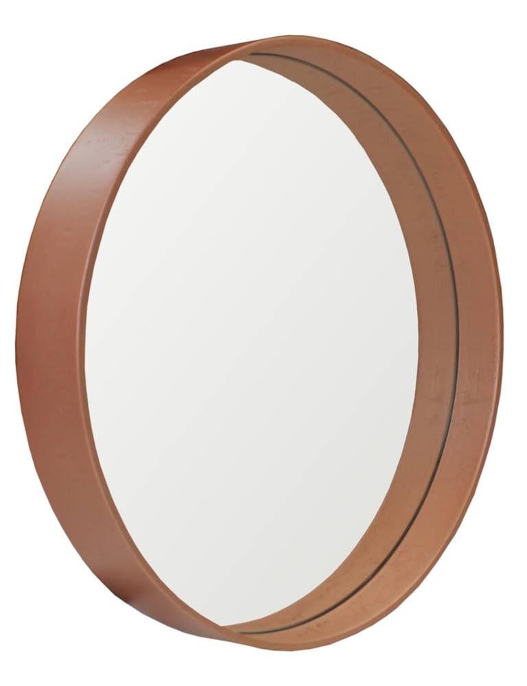 Espelho Manaus Redondo Prata Borda Cobre 40cm - 60284