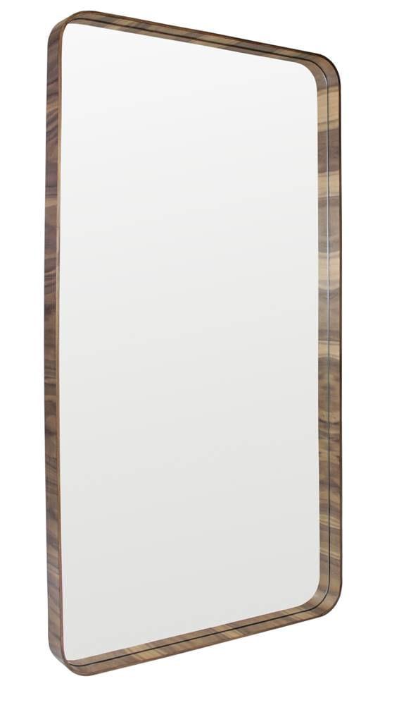 Espelho Manaus Retangular Prata Borda Cobre 135cm - 60285