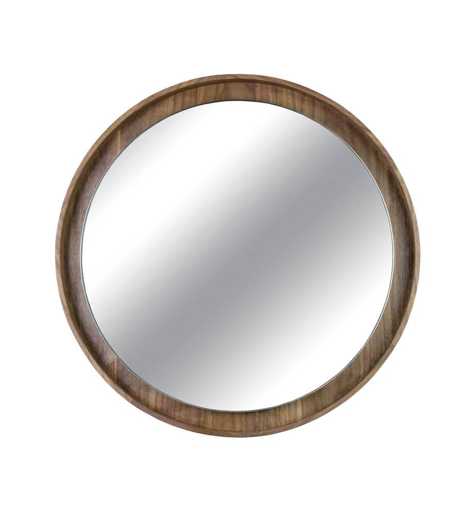 Espelho Lua Borda Nogueira 40cm - 60295