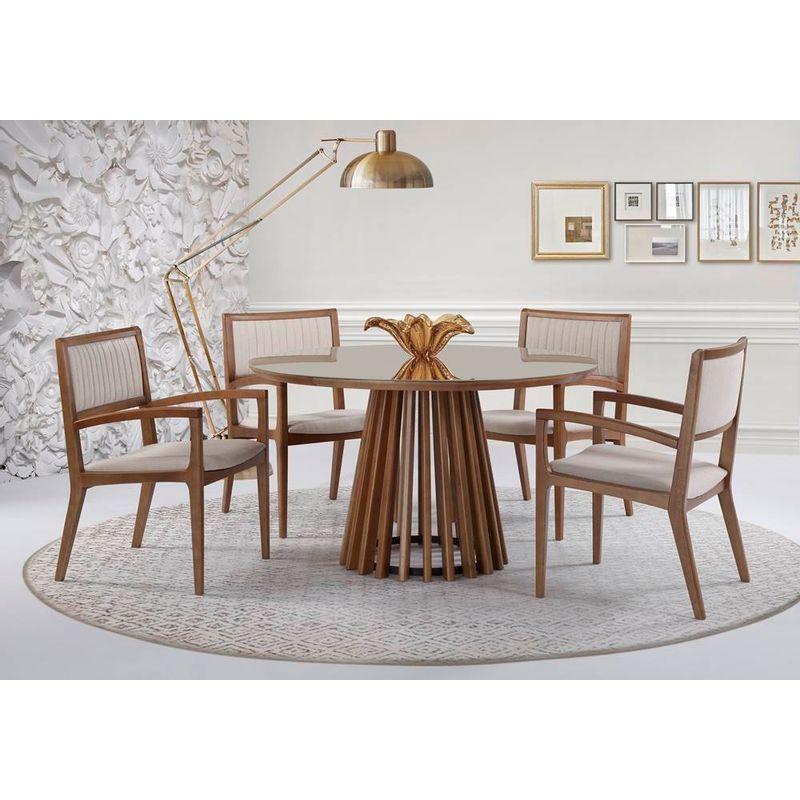 1007-Mesa-Michigan-110-130-Vidro-e-Cadeiras-Indiana-com-braco-Estofada-Verniz-Avela