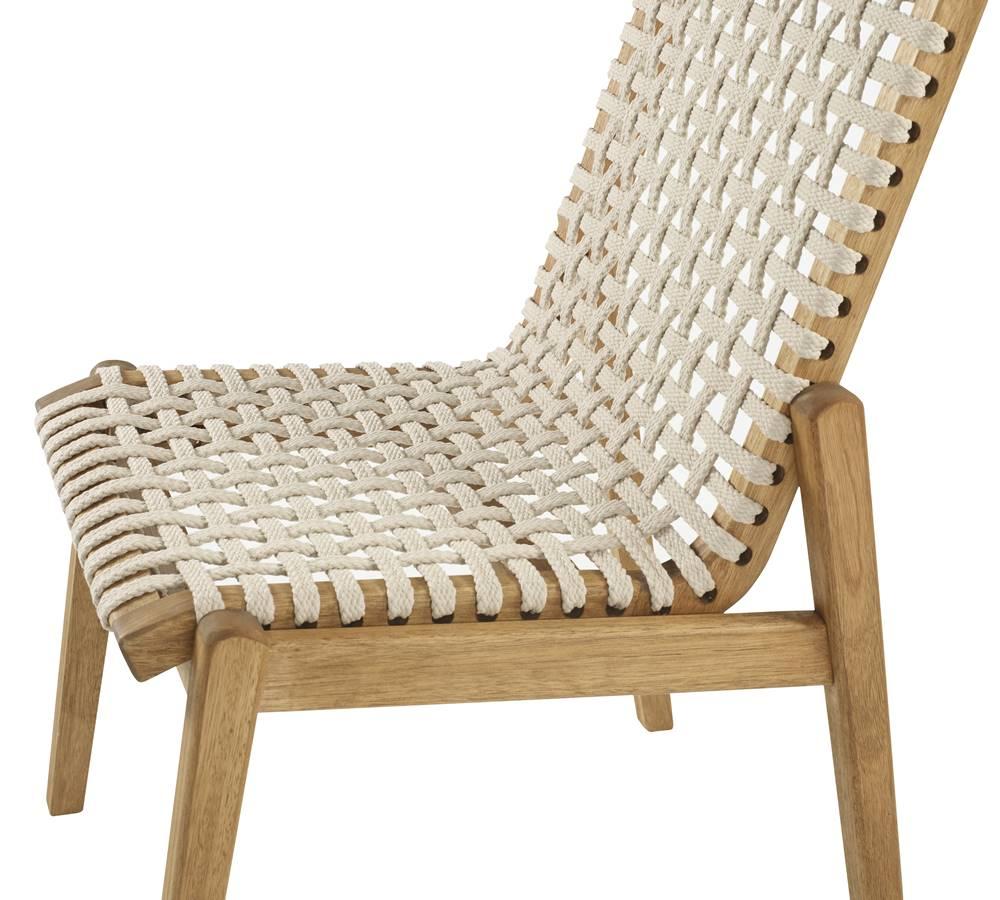 Cadeira Trama Corda Areia Estrutura Stain Jatoba 52cm - 60361