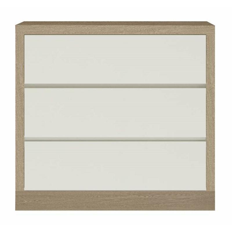 Comoda-Lyra-com-3-Gavetas-cor-Carvalho-com-Off-White-90-cm--LARG----56900