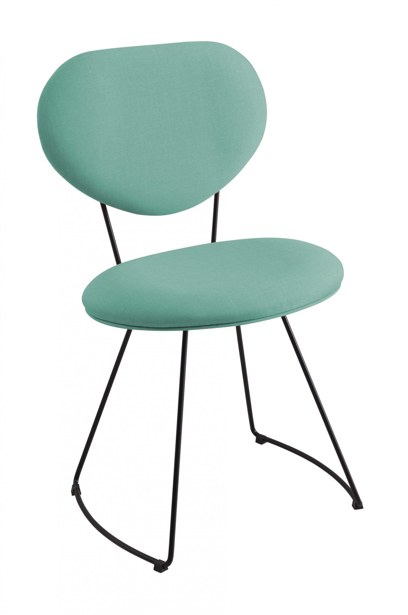 Cadeira Pimpom Azul Tiffany com Base Curve Preta 51cm - 61245