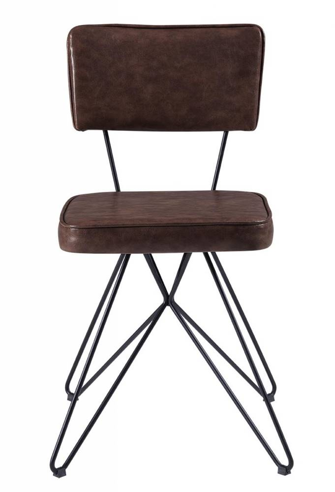 Cadeira Pop Retro Courissimo Whisky Base Estrela Preta 53cm - 61252