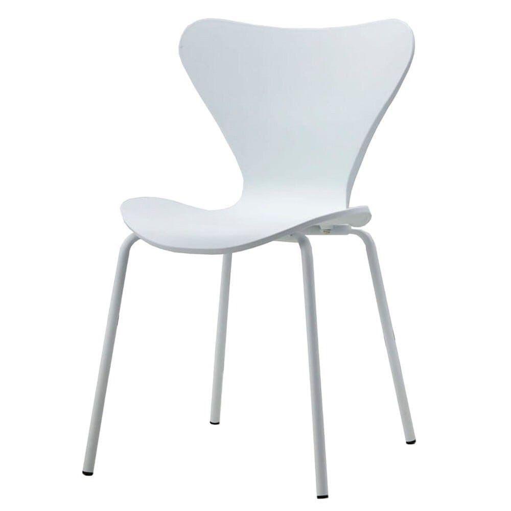 Cadeira Barcelona Polipropileno Branco com Base Aco - 61208