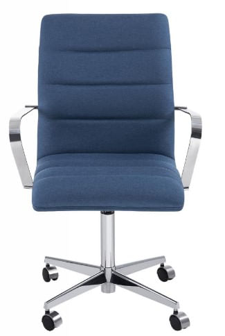Cadeira Office Lux Azul Base Cromada 87cm - 58419
