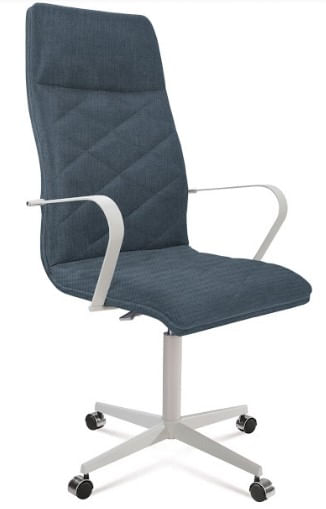 Cadeira Office Alta Jobs Azul Marinho Base Cromada 115cm - 61305