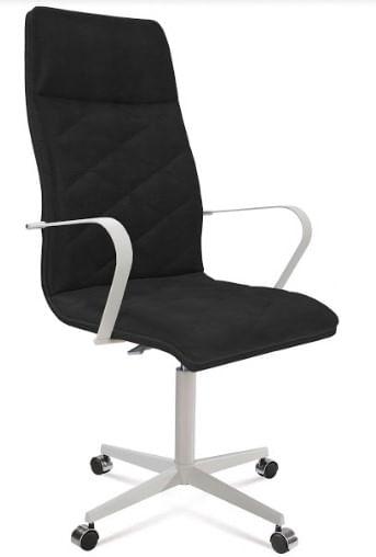 Cadeira Office Alta Jobs Preto Base Cromada 115cm - 61306