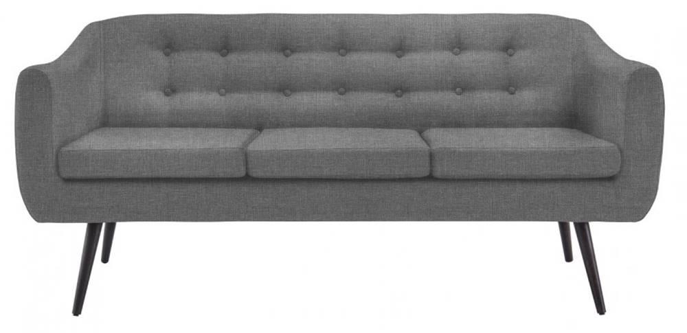 Sofa Mister 3 Lugares Linho Chumbo Base Preta 175cm - 61321