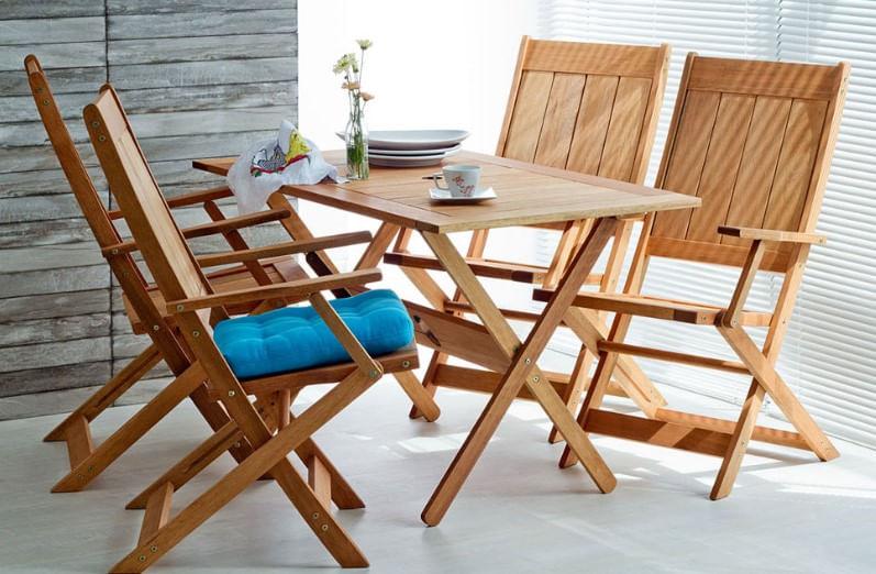 Cadeira Retangular Dobravel Acqualung+ C/ Braco Stain Jatoba 99cm - 61363