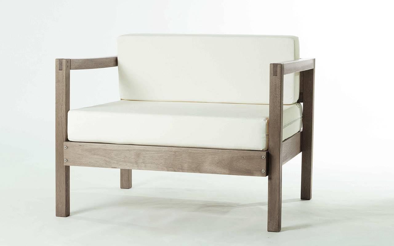 Sofa Componivel Lazy 1 Lugar Estrutura Nogueira + Almofadas 89cm - 61387
