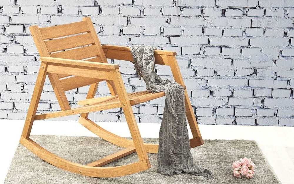 Cadeira Balanco Janis Stain Jatoba 80cm - 61405