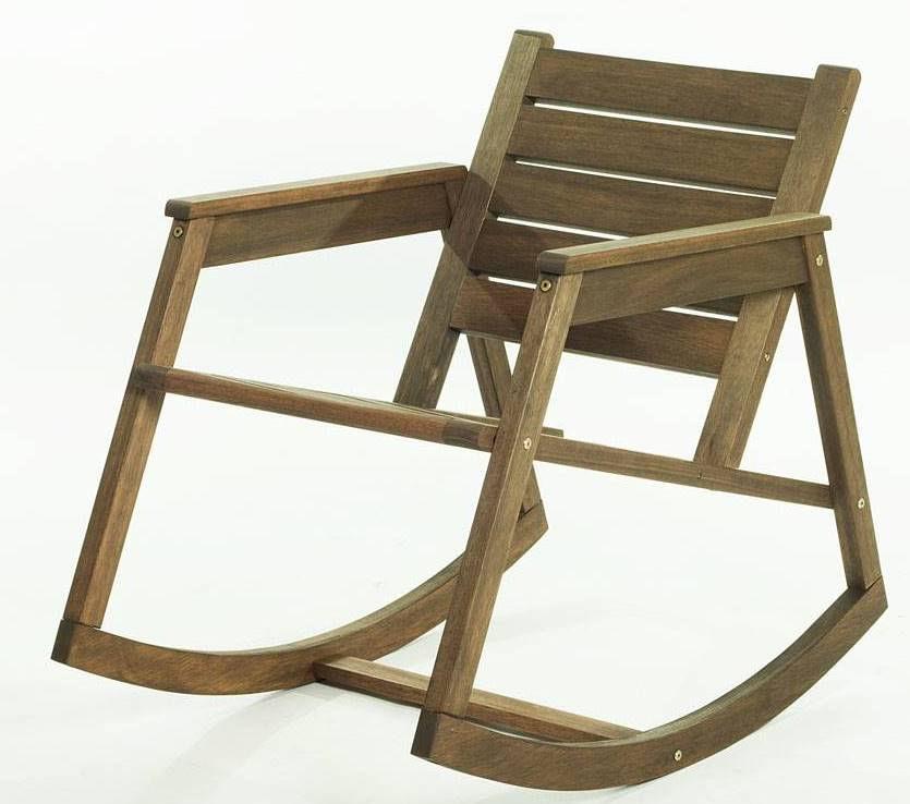 Cadeira Balanco Janis Stain Nogueira 80cm - 61406