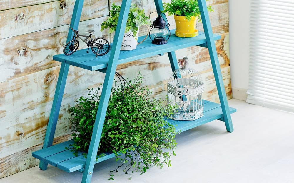 Estante Escada Troia Azul 150cm - 61413