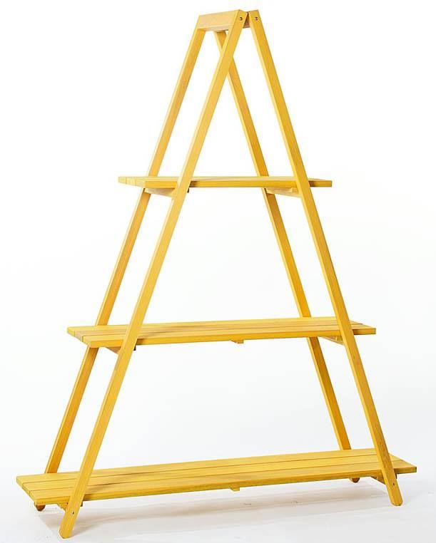 Estante Escada Troia Amarela 150cm - 61414